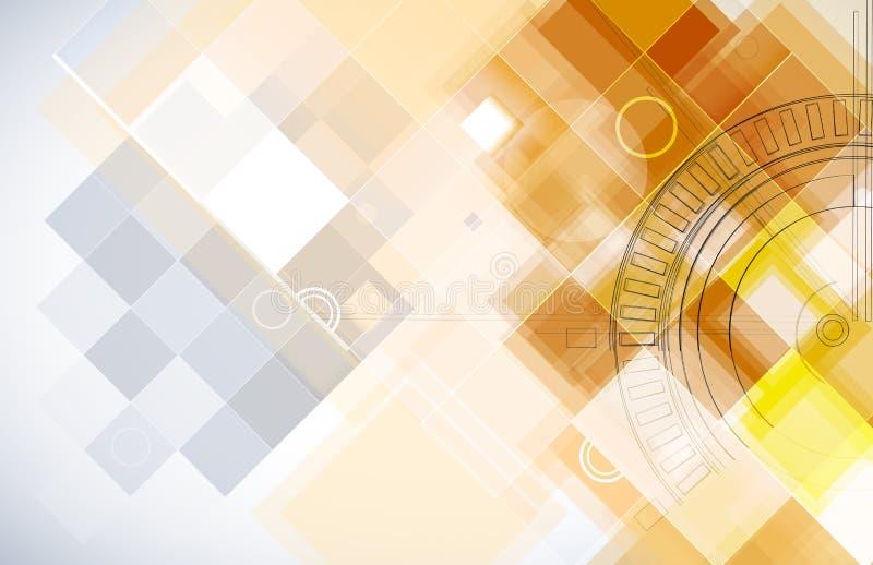 Fondo futurista abstracto del negocio de la informática stock de ilustración