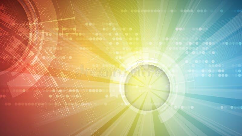 Fondo futurista abstracto del negocio de la informática ilustración del vector