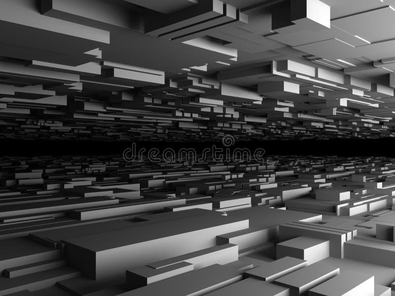 Fondo futurista abstracto en gris ilustración del vector