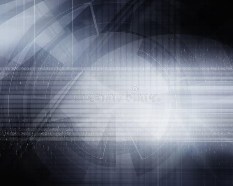 Fondo futurista abstracto gris ilustración del vector