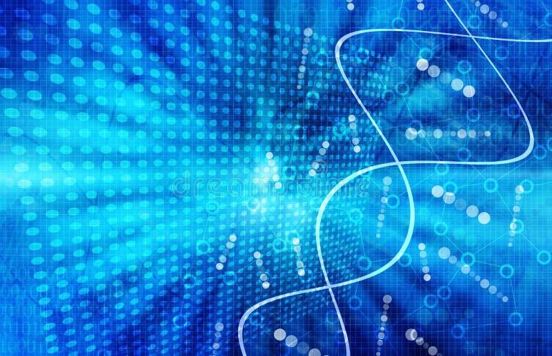 Fondo futurista azul del extracto de la tecnología de la ciencia médica imagen de archivo libre de regalías