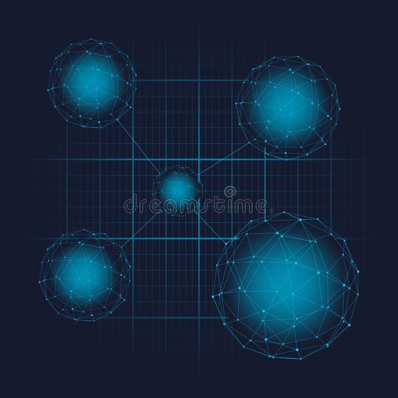 Fondo futurista de la ciencia ilustración del vector