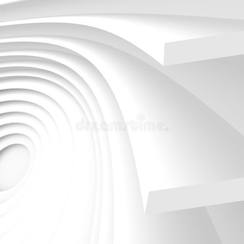 Fondo futurista de la configuración Papel pintado abstracto blanco libre illustration
