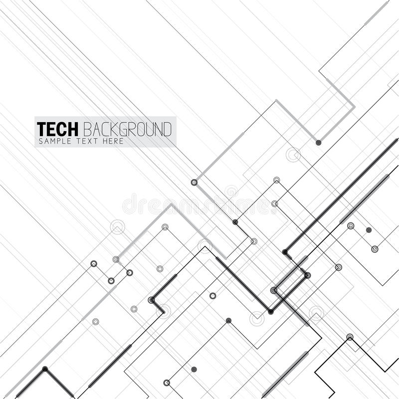 Fondo futurista de la placa de circuito del extracto del ejemplo del vector libre illustration