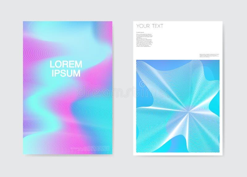 Fondo futurista de la rejilla del cartel abstracto El líquido forma la plantilla del folleto Diseño del documento de identidad de libre illustration