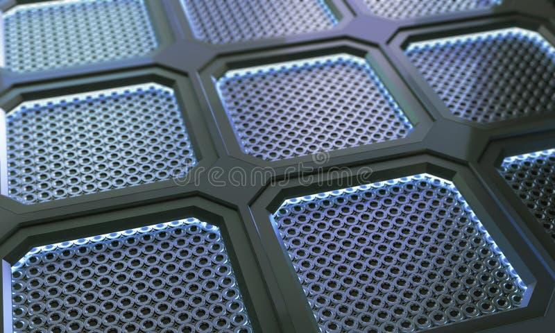Fondo futurista de la superficie del polígono del metal de la tecnología abstracta imagen de archivo