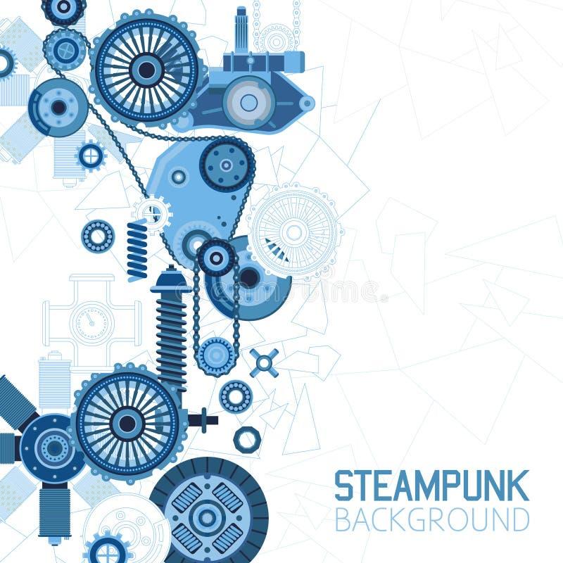 Fondo futurista de Steampunk ilustración del vector
