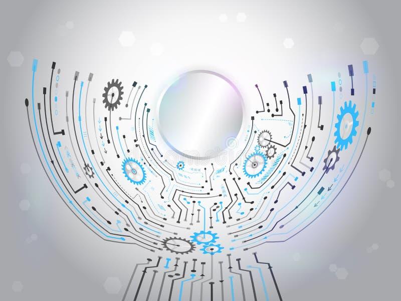 Fondo futurista del circuito Concep de alta tecnología de la tecnología digital libre illustration