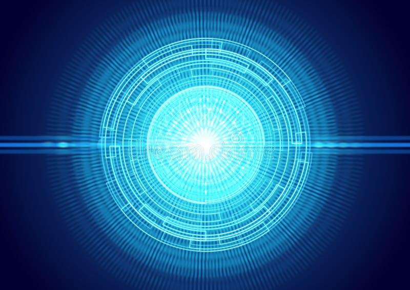 Fondo futurista del ojo del laser de la luz fotografía de archivo libre de regalías