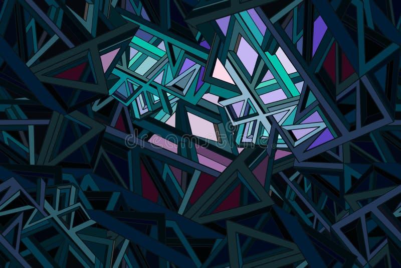 Fondo futurista misterioso abstracto con el elemento geométrico stock de ilustración