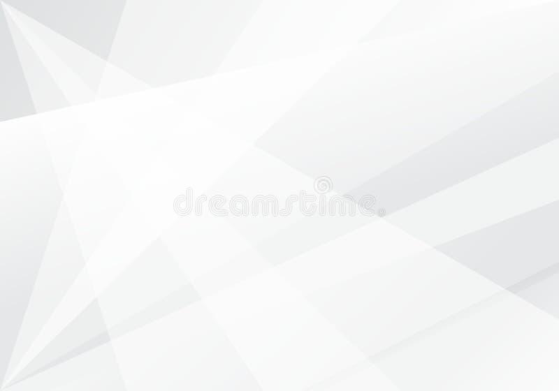Fondo futurista moderno abstracto de la tecnología blanca y gris del color ilustración del vector