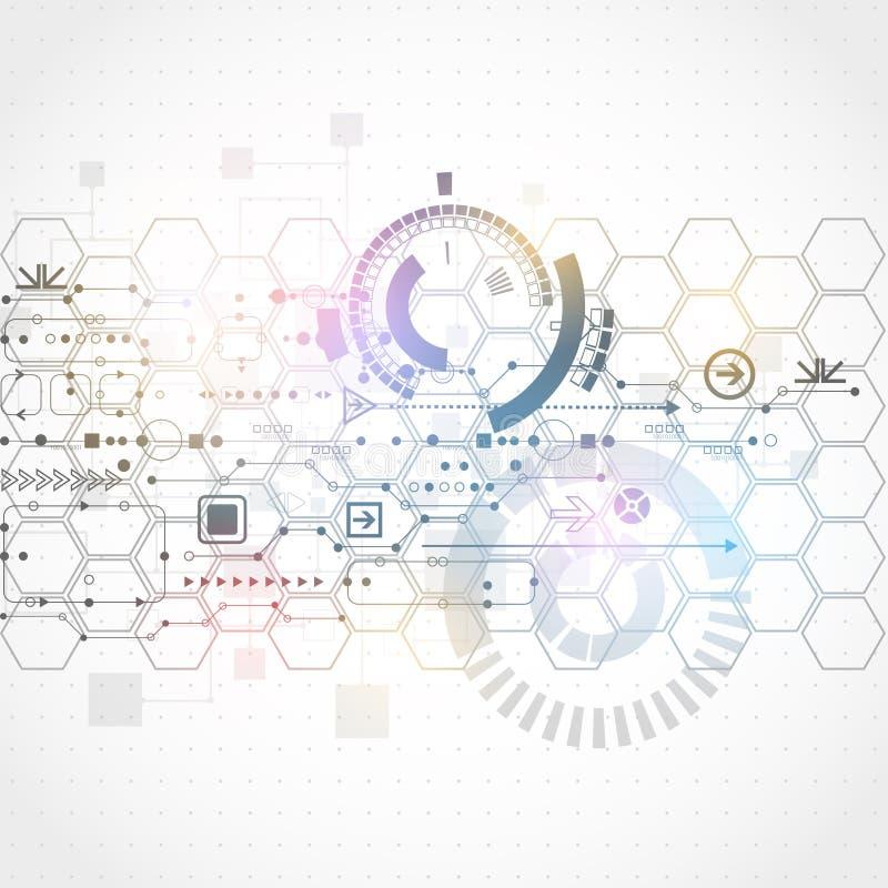 Fondo futuristico astratto di affari di tecnologie informatiche illustrazione vettoriale