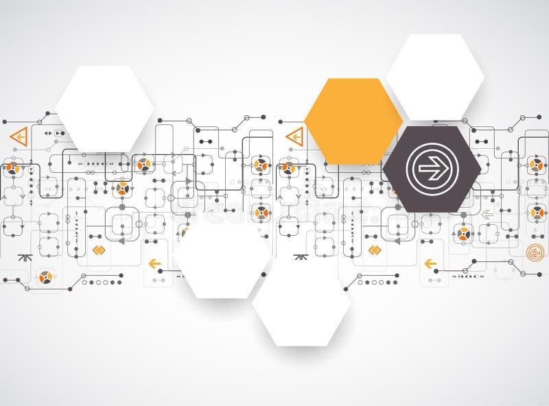 Fondo futuristico astratto di affari di tecnologie informatiche royalty illustrazione gratis