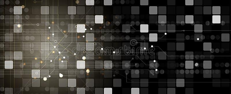 fondo futuristico astratto di affari di tecnologie informatiche di e illustrazione vettoriale