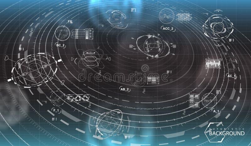 Fondo futuristico in bianco e nero royalty illustrazione gratis