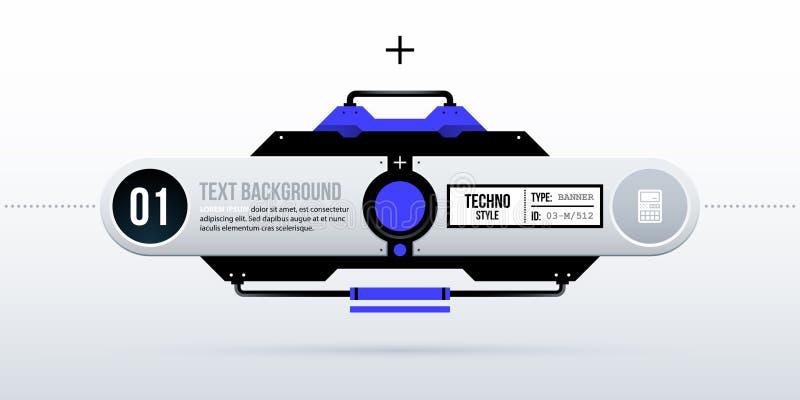 Fondo futuristico del testo nella ciao-tecnologia pulita/stile techno illustrazione vettoriale