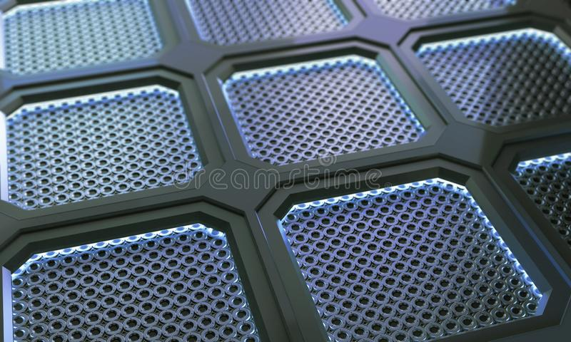 Fondo futuristico della superficie del poligono del metallo di tecnologia astratta immagine stock