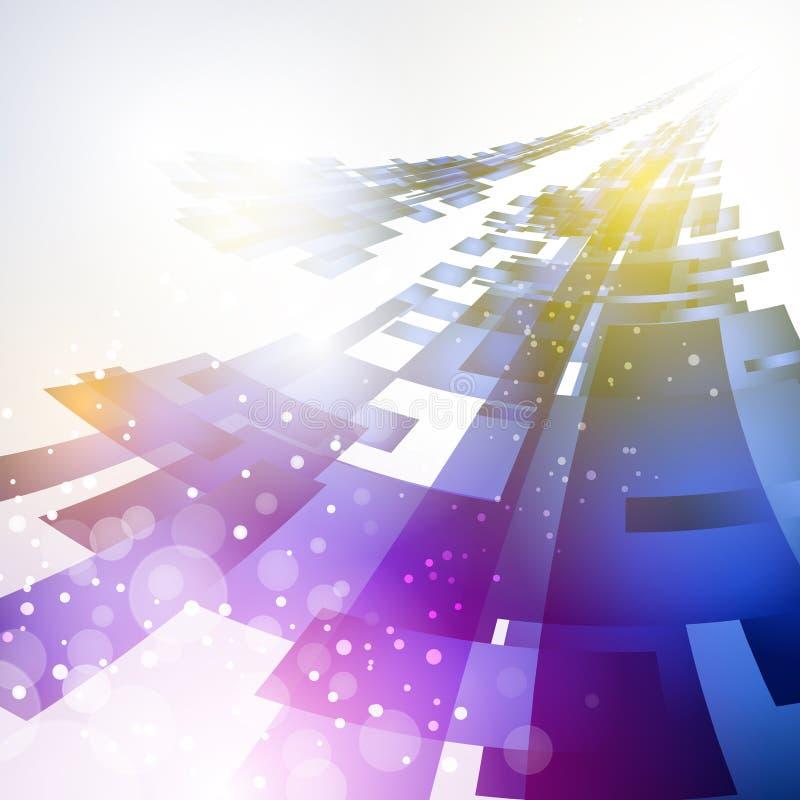 Fondo futuro abstracto de la tecnología ilustración del vector