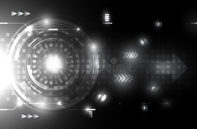Download Fondo Futuro Blanco Y Negro Del Concepto De La Tecnología De La  Tecnología Del BackgroundAbstract