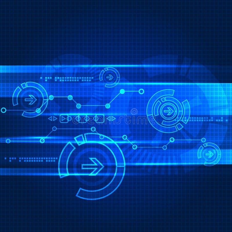 Fondo futuro de la tecnología de la ingeniería abstracta stock de ilustración