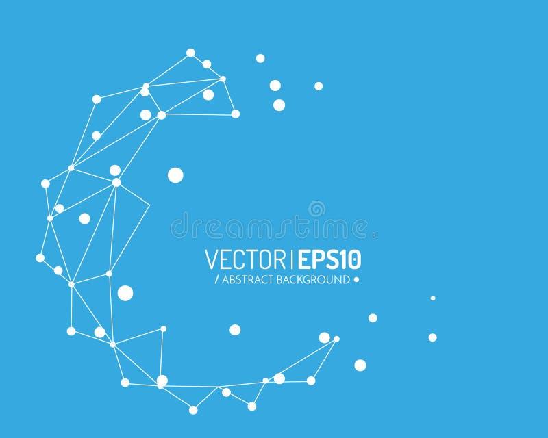Fondo futuro del diseño para la presentación del negocio Globo azul con las líneas y los puntos Concepto de la conexión ilustración del vector