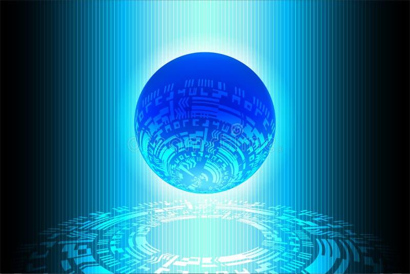 Fondo futuro di tecnologia del mondo blu royalty illustrazione gratis