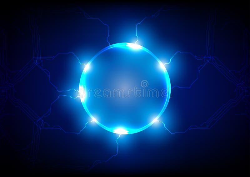 Fondo futuro leggero astratto di concetto di tecnologia, illu di vettore royalty illustrazione gratis