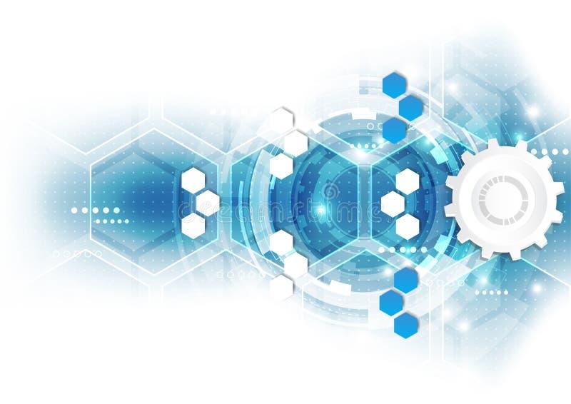 Fondo futuro scientifico astratto di tecnologia Poligono della geometria illustrazione vettoriale