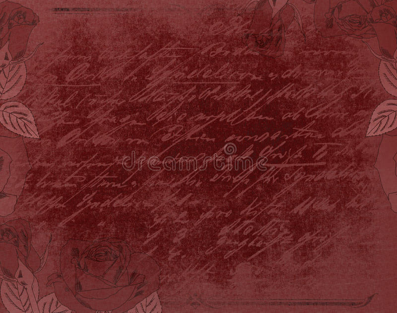 Fondo gótico rojo stock de ilustración