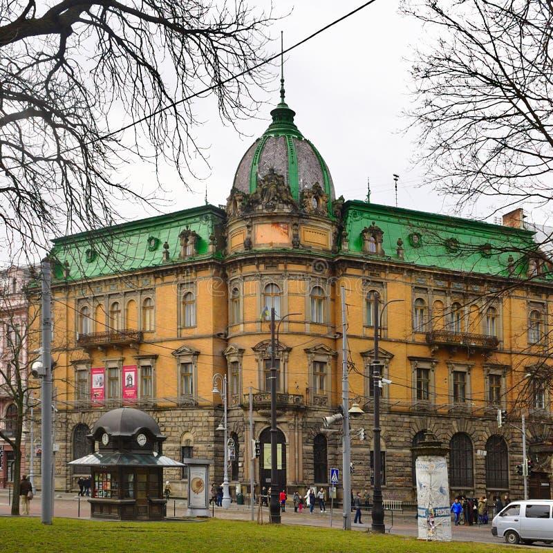 Fondo gallego anterior del crédito (1891), el centro de construcción austríaco de Lviv, Ucrania fotografía de archivo