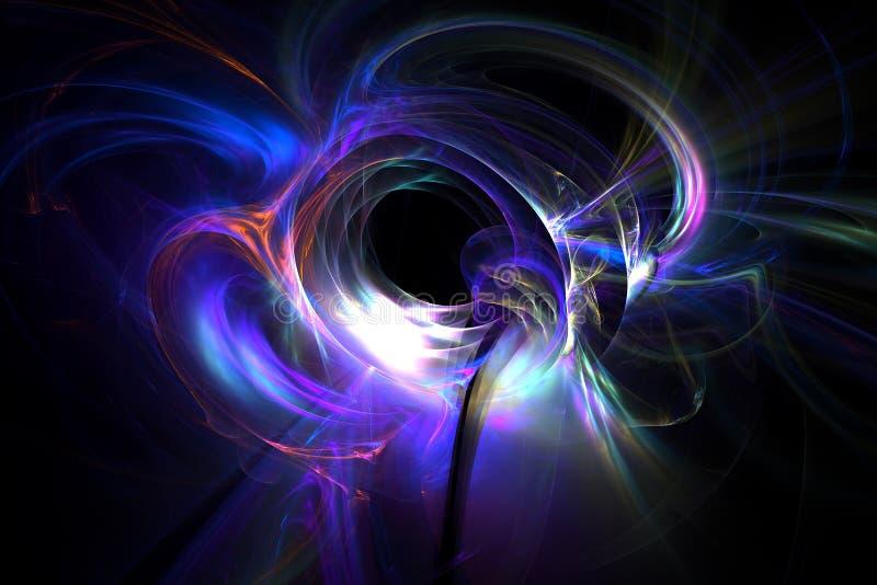 fondo generado 3D de la luz del extracto del fractal ilustración del vector