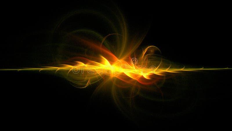 fondo generado 3D de la luz del extracto del fractal libre illustration