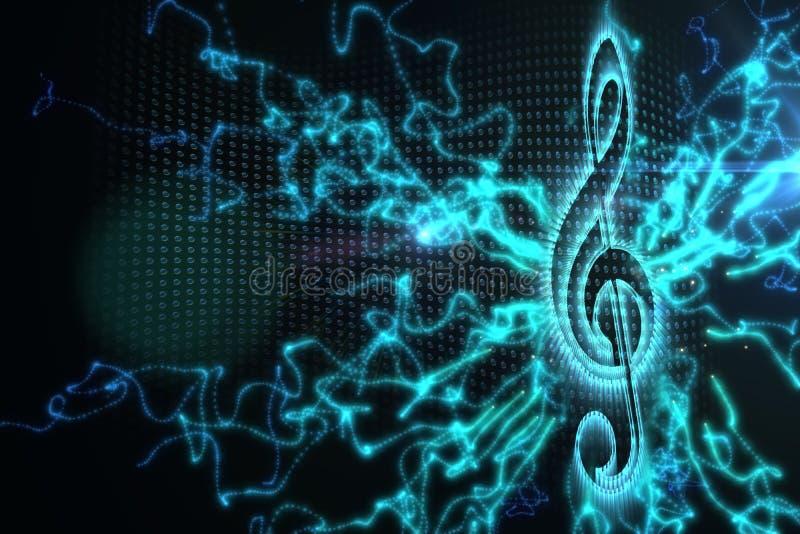 Fondo generado Digital de la música stock de ilustración