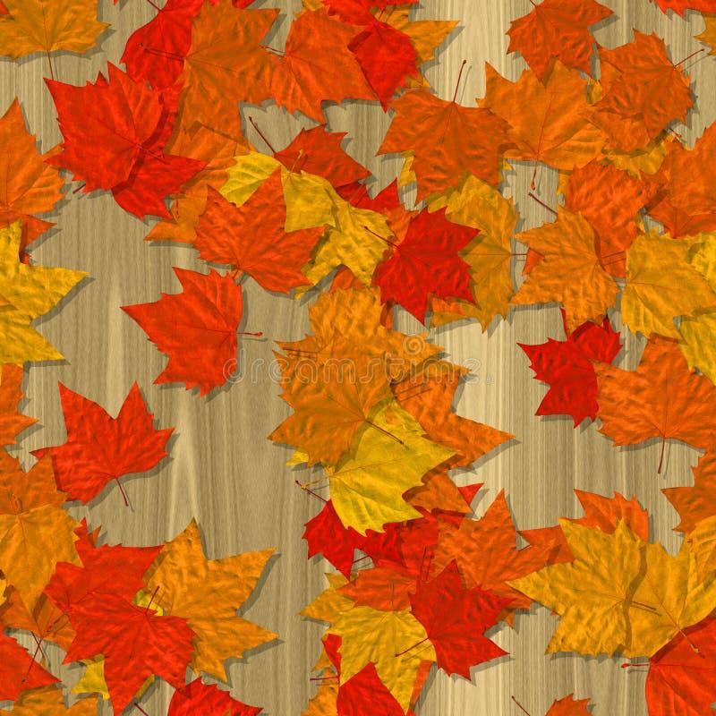 Fondo generado inconsútil de la textura de las hojas de otoño stock de ilustración