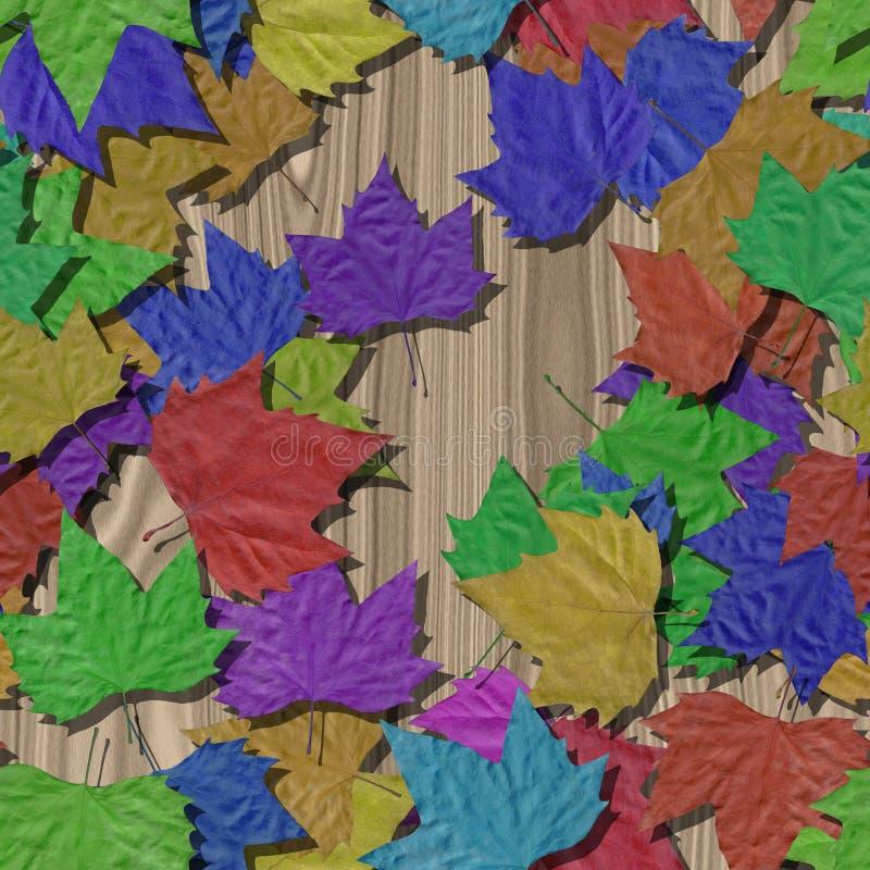 Fondo generado inconsútil de la textura de las hojas de otoño ilustración del vector
