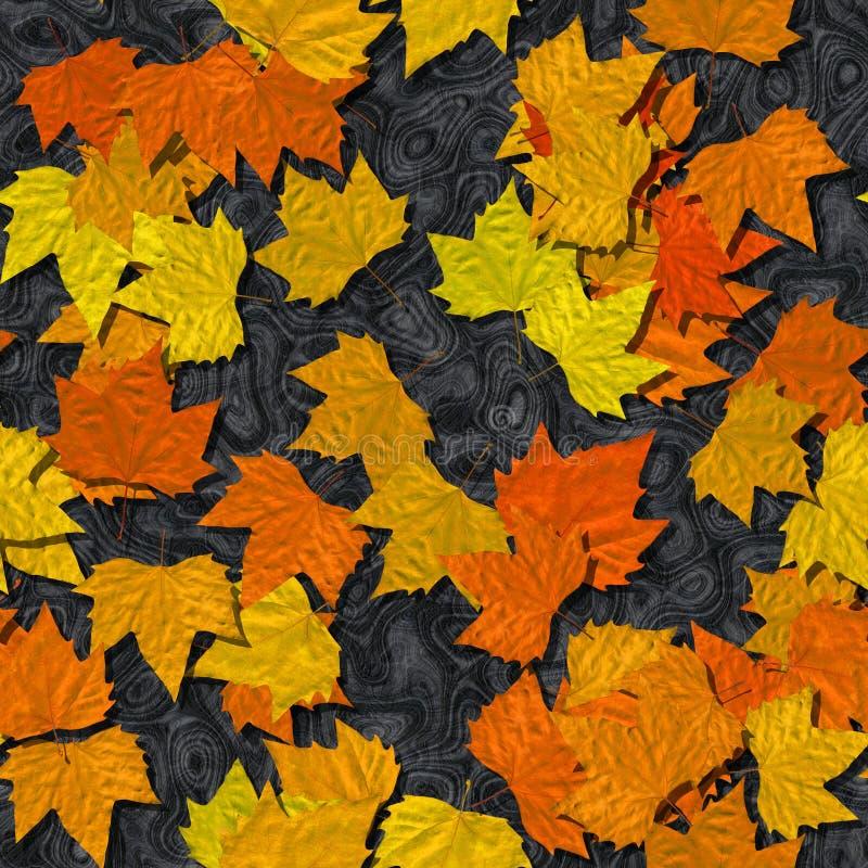Fondo generado inconsútil del hoja de otoño o de mármol de la textura stock de ilustración