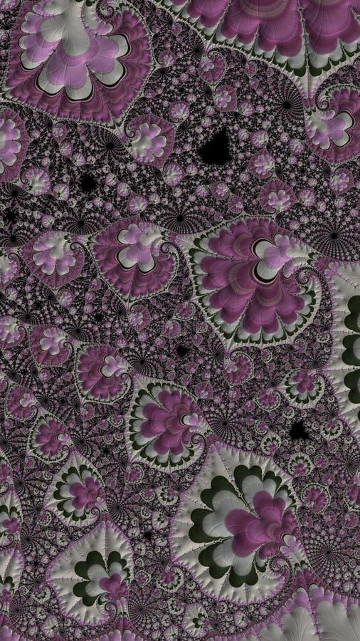 Fondo generado por ordenador abstracto del fractal que se asemeja al edredón imagenes de archivo