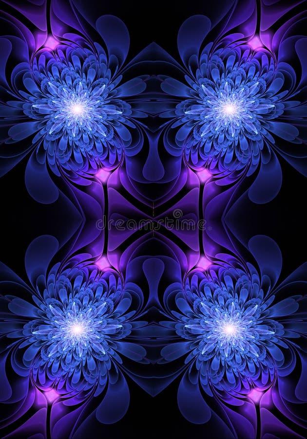 Fondo generado por ordenador artístico de las ilustraciones de los fractales de las rosas del extracto que brilla intensamente br libre illustration