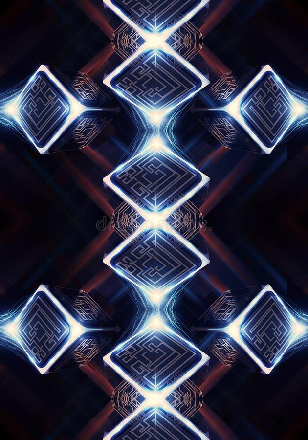 Fondo generado por ordenador enérgico artístico de las ilustraciones del fractal libre illustration
