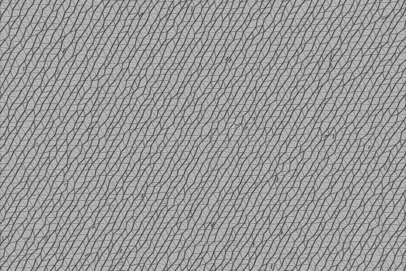 Fondo generativo blanco y negro abstracto del grunge de B&W, áspero o retro del arte Dibujo, modelo, desolación y capa stock de ilustración