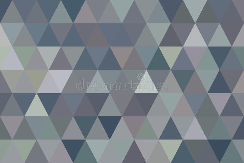 Fondo generativo del arte del triángulo del color del modelo geométrico abstracto de la tira Papel pintado, repetición, concepto  stock de ilustración