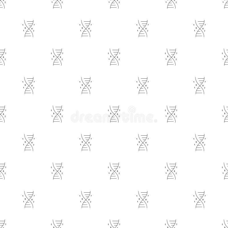 Fondo genetico di ingegneria dalla linea icona modello lineare di vettore illustrazione di stock