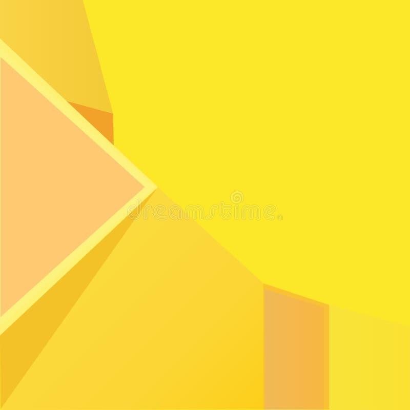 Fondo geométrico abstracto anaranjado con los triángulos amarillos libre illustration