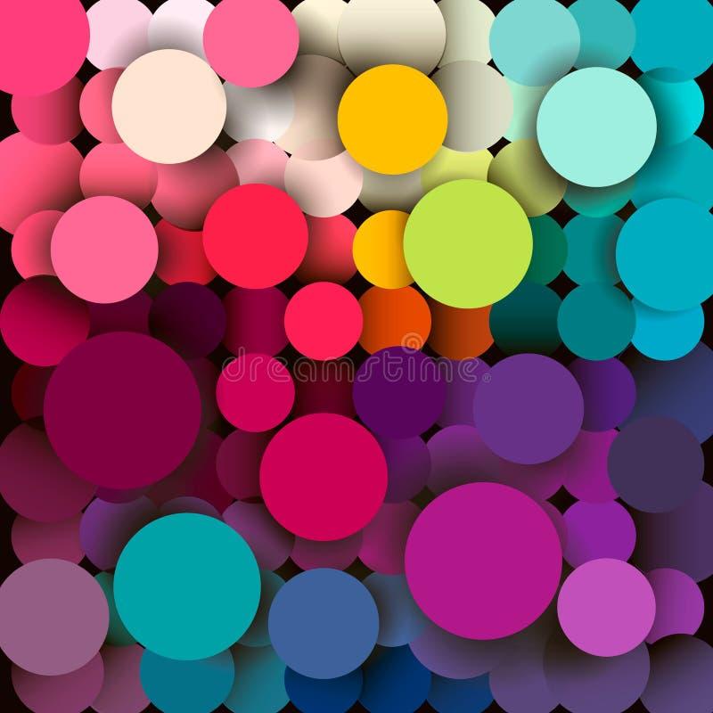 Fondo geométrico abstracto colorido stock de ilustración