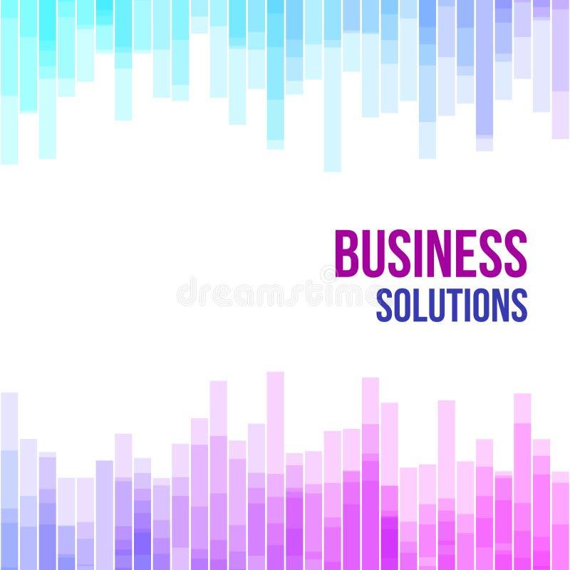Fondo geométrico abstracto colorido del negocio Mosaico al azar de la violeta, rosadas y azules de las formas geométricas Cartas  ilustración del vector
