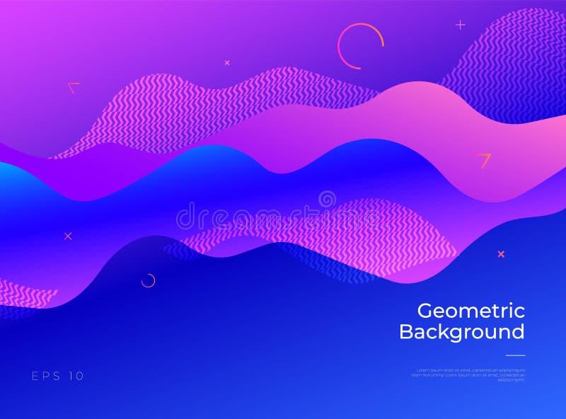 Fondo geométrico abstracto colorido La pendiente forma la composición ilustración del vector