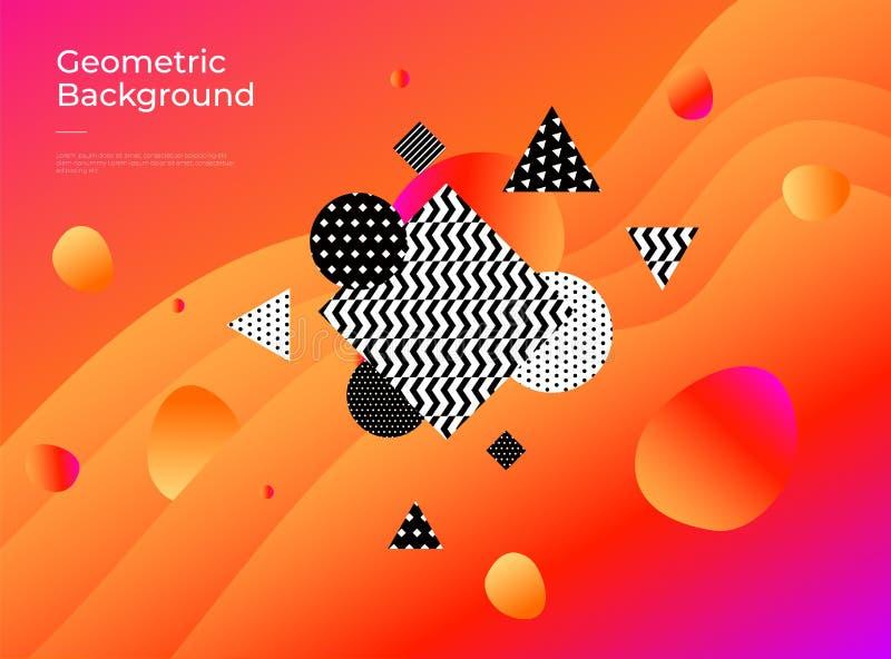 Fondo geométrico abstracto colorido La pendiente forma la composición stock de ilustración