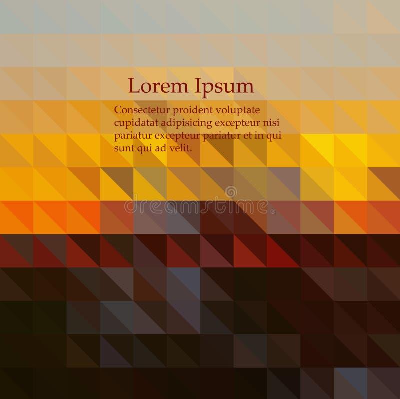 Fondo geométrico abstracto con el oro de los polígonos, amarillo, rojo, Borgoña, marrón, chocolate, color ilustración del vector