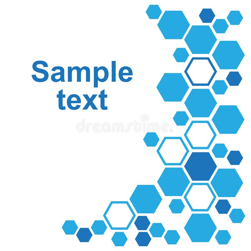 Fondo geom?trico abstracto con hex?gonos azules Ilustraci?n del vector ilustración del vector