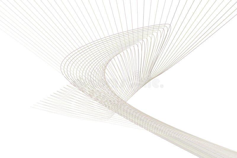 Fondo geométrico abstracto con la forma de la línea y del modelo de la curva Efecto, decoración, dibujo y concepto ilustración del vector